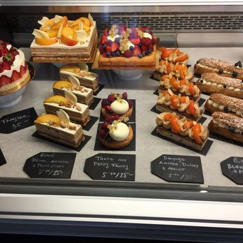Photo of Pâtisserie Rhubarbe , Montreal, QC, Canada. Pastry case selection  (2
