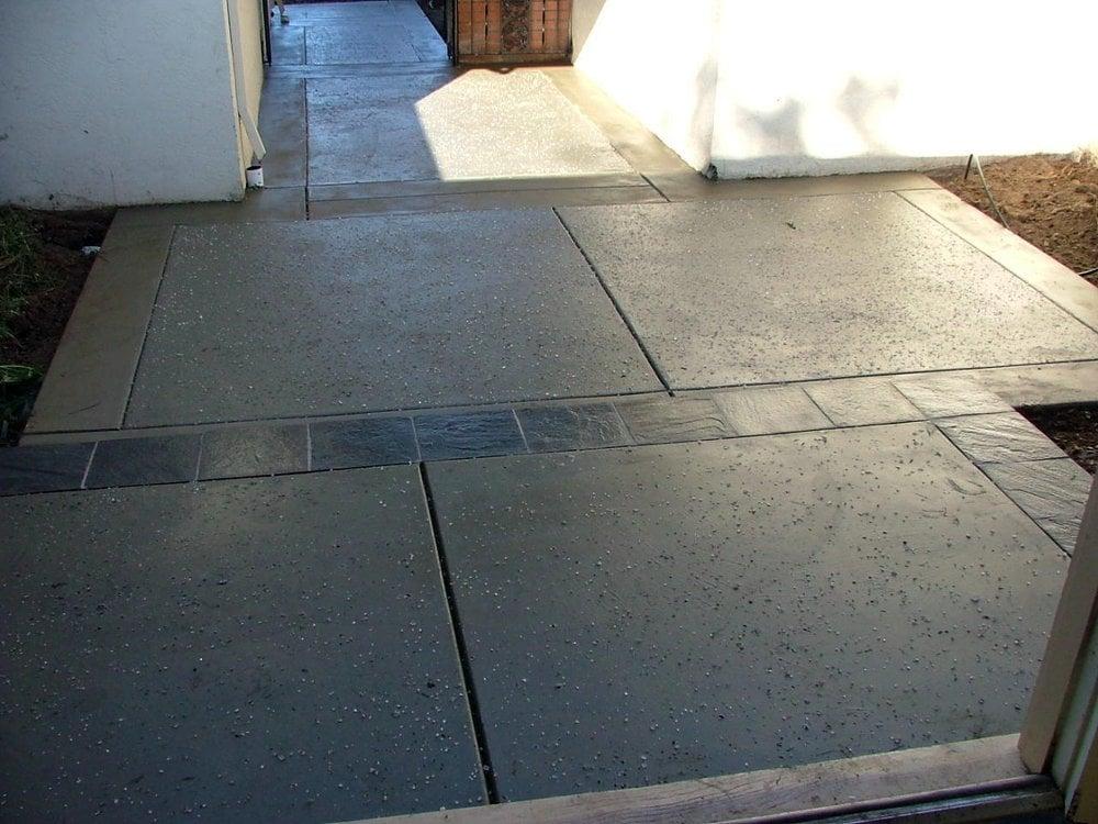 Salt Finish With Slate Tile Inlay Yelp