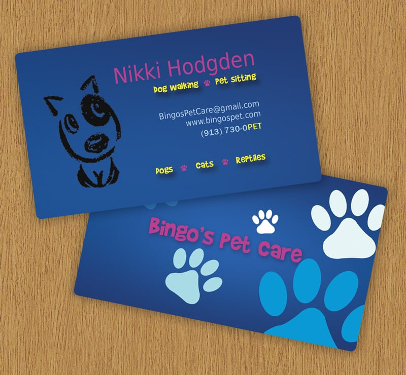 Amazing Dog Business Card Contemporary - Business Card Ideas ...