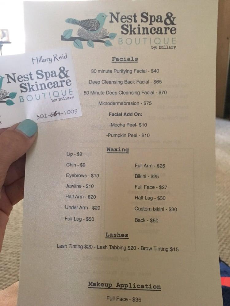 Nest Spa and Skincare Boutique: 105 Federal St, Milton, DE