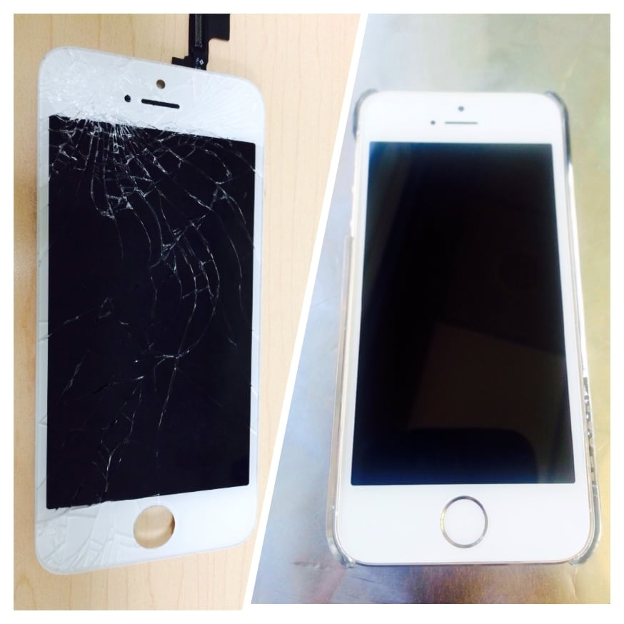 Before And After Pic Of My Iphone 5s, I Feel Whole Again