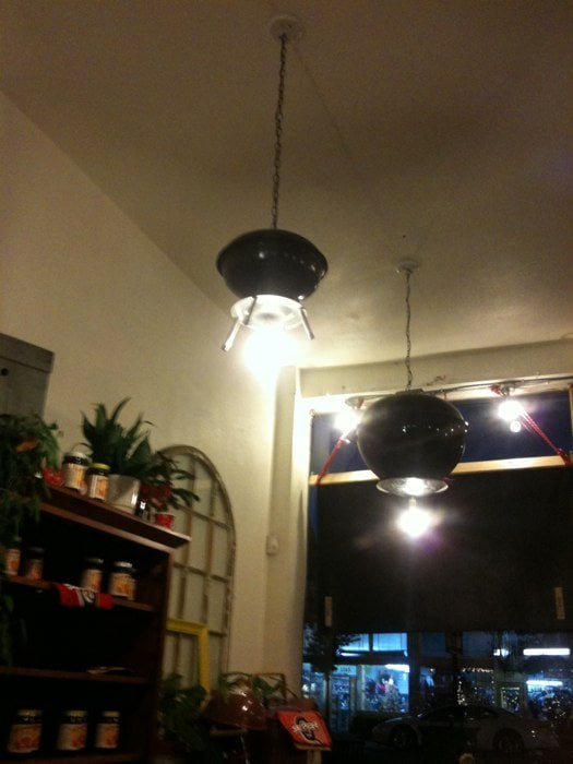 Photo of Everett and Jones BBQ - Alameda CA United States. Weber grill & Weber grill light fixtures - Yelp