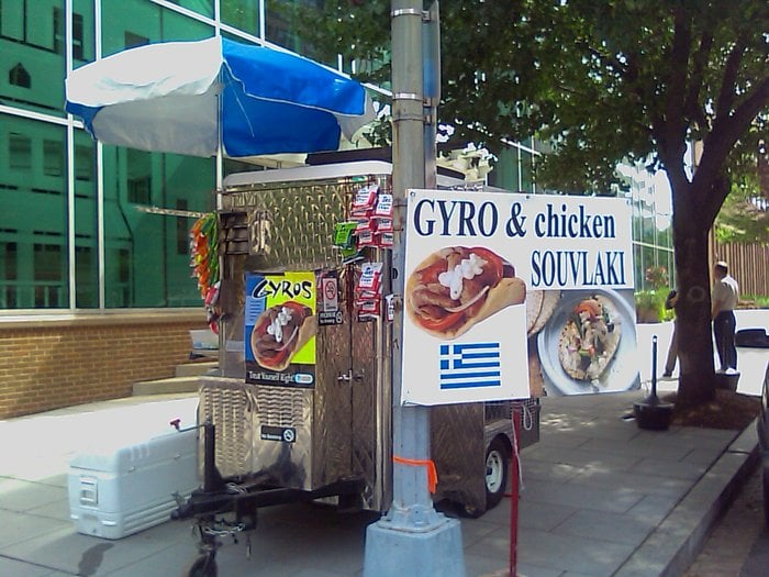 George Papakosta's Gyro Stand: 15th St & M St, Washington, DC, DC