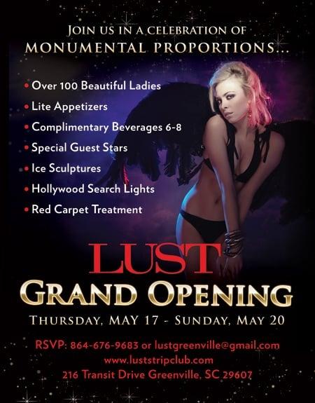 Lust Gentlemen's Club: 216 Transit Dr, Greenville, SC
