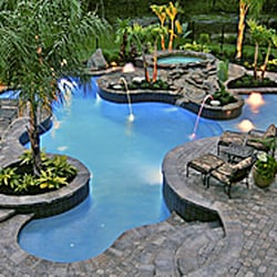 Custom exotic pools get quote landscaping 1462 for Pool design katy tx