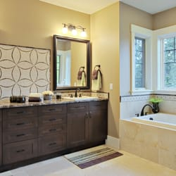 Lovely Images For Small Bathroom Designs Thick Bathroom Tempered Glass Vessel Sink Vanity Faucet Square Long Island Custom Bathroom Cabinets Bathroom Cabinets For Vessel Sinks Old Bathroom Faucet Removal Purple3 Mirror Bathroom Vanity ReBath By Schicker   73 Photos \u0026amp; 92 Reviews   Contractors   1059 ..