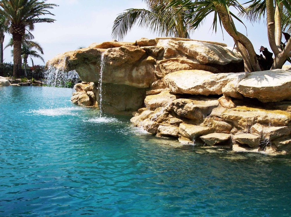 Relaxing lagoon pool and waterfall yelp - Crystal pools waterfall ...