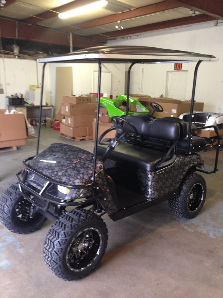 Custom Built E Z Go Txt Skull Body Golf Carts Lifted And