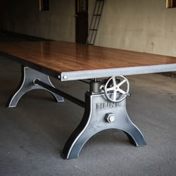 Photo Of Vintage Industrial   Phoenix, AZ, United States. Hure Crank Table  With
