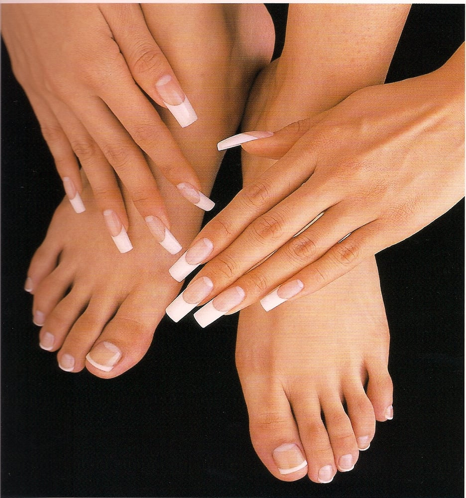 Perfect pink and white acrylic nails and toes! - Yelp
