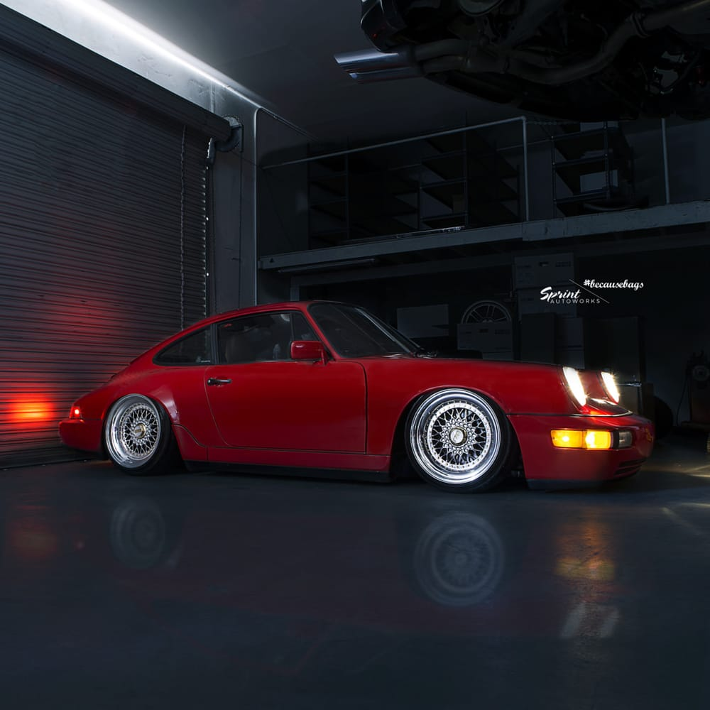 Rodolfo's Porsche 964 we put on air suspension and performed a