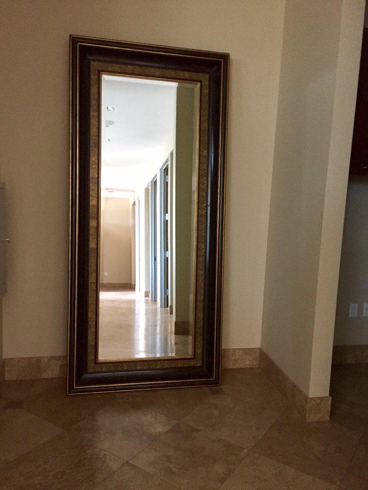 8\' Solid Mahogany floor mirror - Yelp