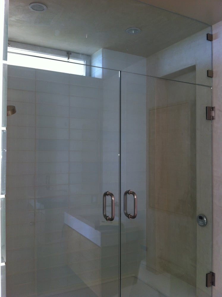 Photo of Glass Definition - Van Nuys CA United States. Steam shower Double & Steam shower Double door with transom 3/8