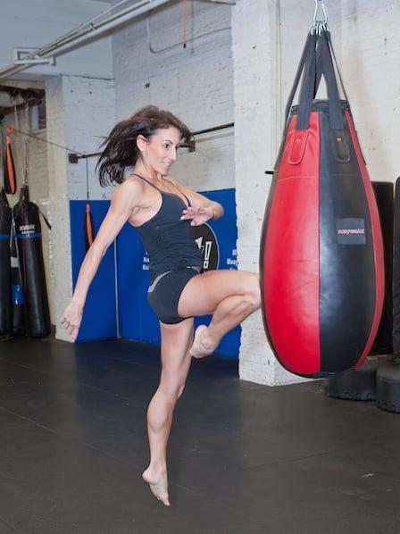 Owner, Katalin-doing a flying knee strike. - Yelp
