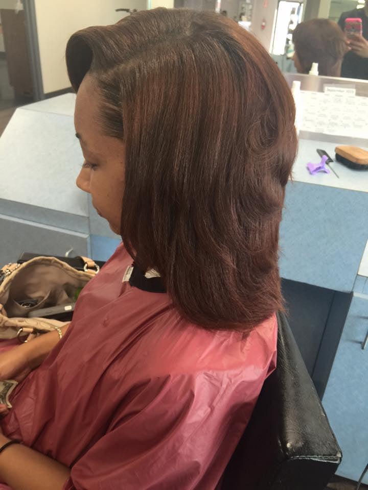Silk Press Blowout On Natural Hair Yelp