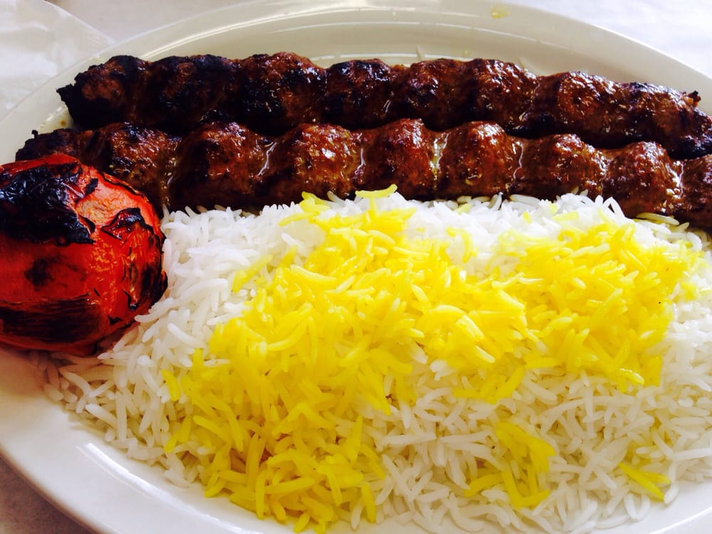 lamb kobideh with basmati rice and a charbroiled tomato yelp