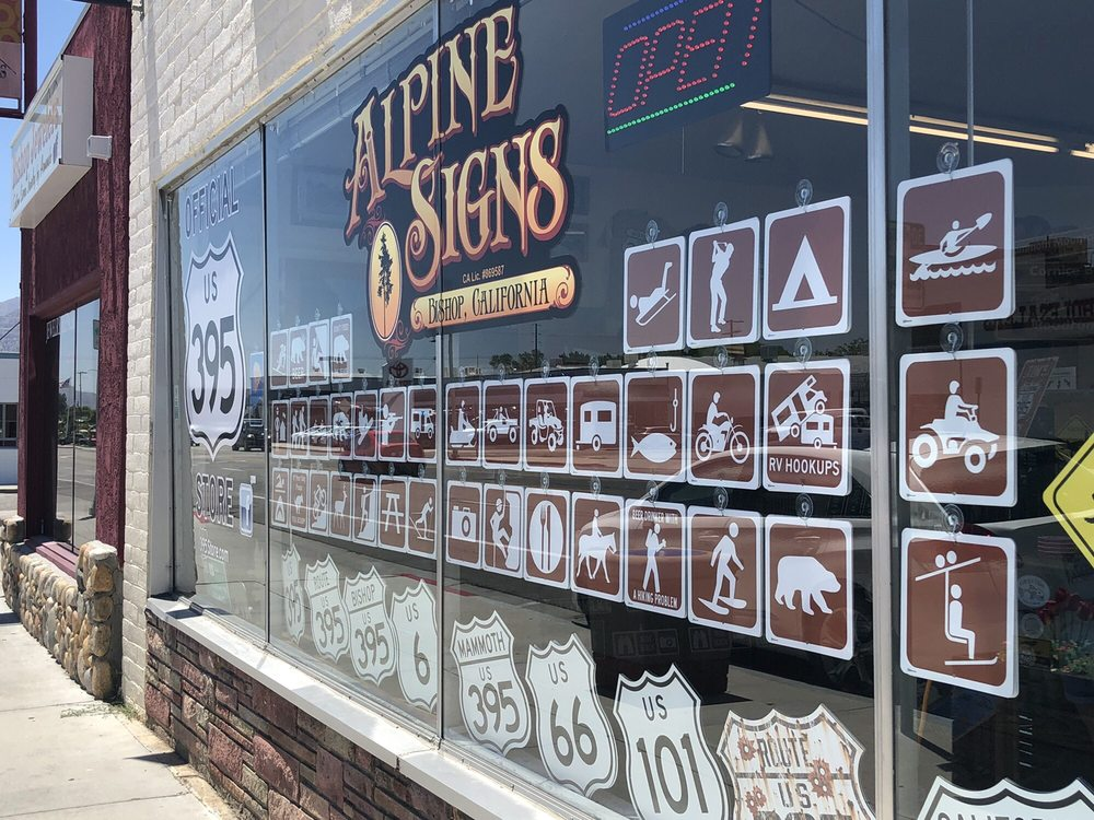 Alpine Signs: 263 S Main St, Bishop, CA
