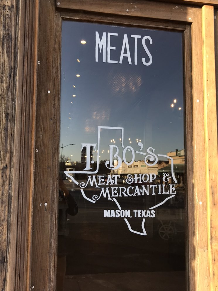 T. Bo's Meat Shop And Mercantile: 100 Fort McKavitt St, Mason, TX