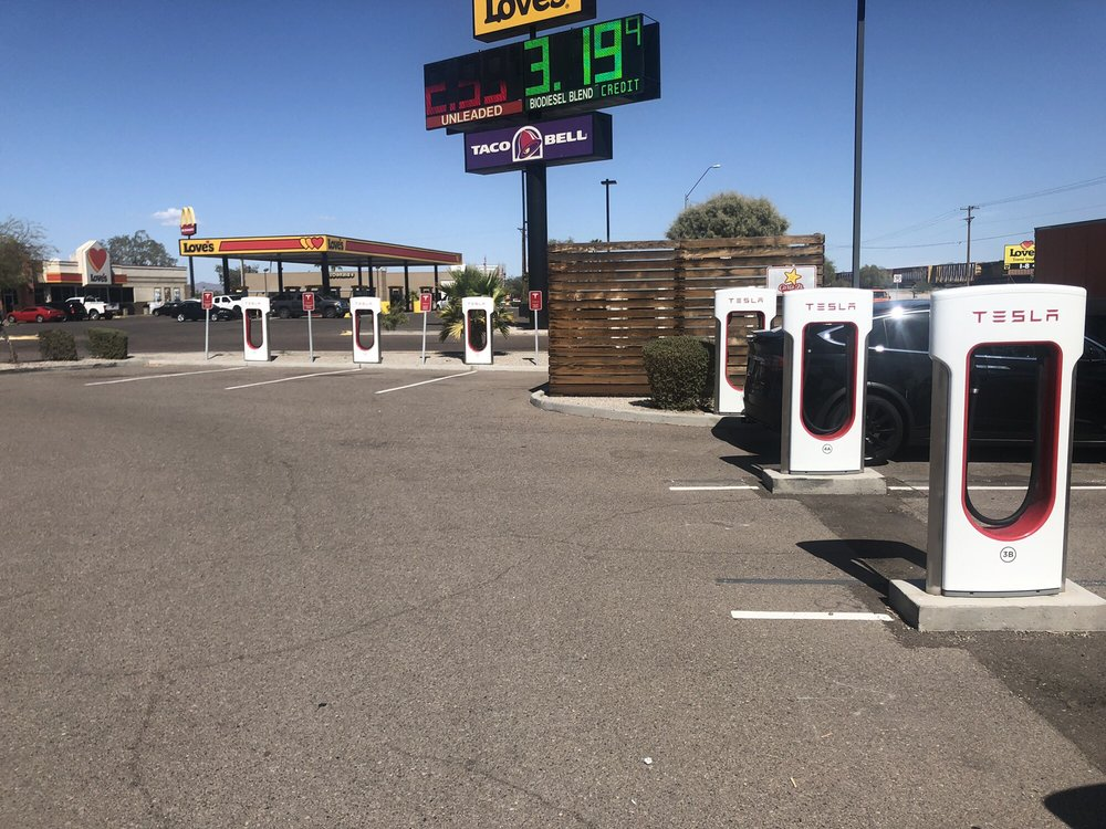 Tesla Supercharger: 826 W Pima St, Gila Bend, AZ