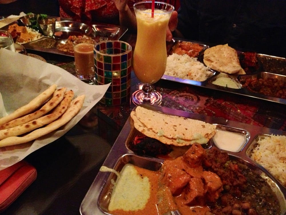 Lunch buffet mango lassi and naan Yelp