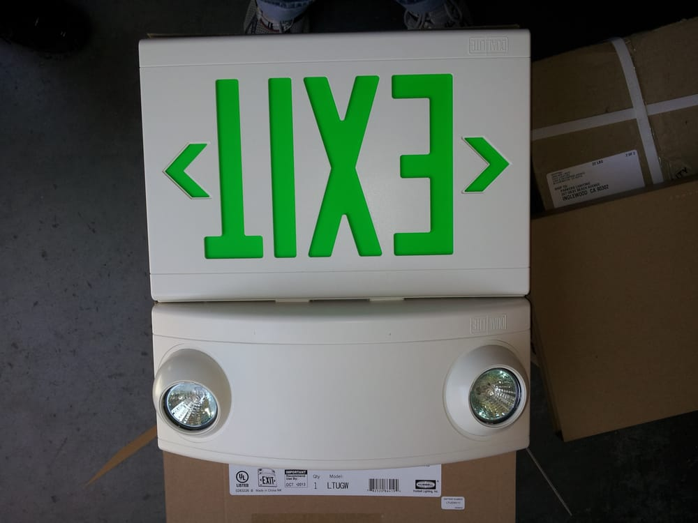 Photo Of Parker Lighting   Inglewood, CA, United States. The Exit Signs With