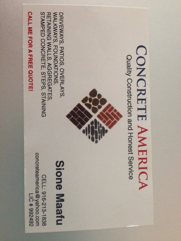 Concrete Business Cards. Trades At Cement Concrete Finisher Combined ...