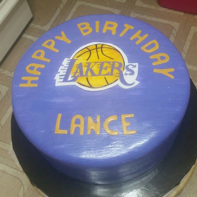 Lakers Logo On A Kobe Bryant Fans Birthday Cake Yelp