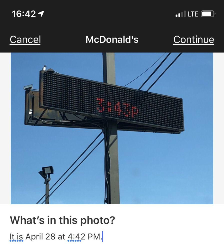 McDonald's: 13786 Jones St, Lavonia, GA