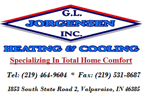Jorgensen G L Heating & Cooling: 1853 S State Rd 2, Valparaiso, IN