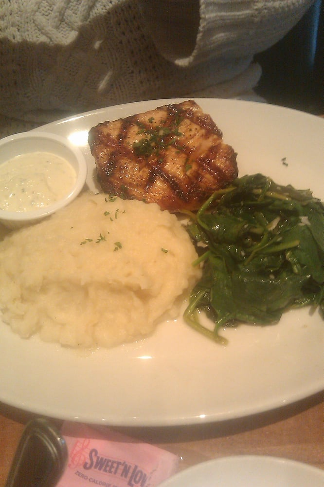 Salmon with spinach and mashed potatoes yelp for King s fish house corona