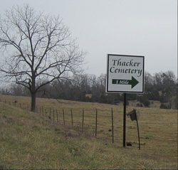 Thacker Cemetery: 10133 County Rd 479, Clarkridge, AR