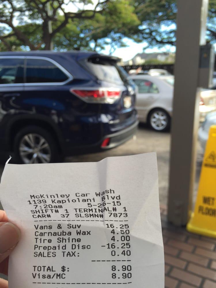 I Had A Prepaid Car Wash Ticket Today