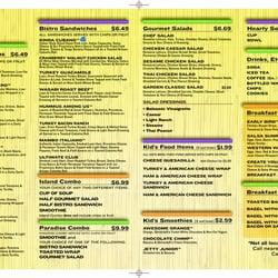 Tropical Smoothie Cafe Menu East Lansing