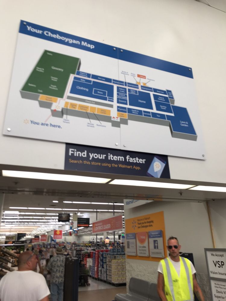 Store Map Didnt Realize It Turned Out Blurry Sorry Yelp - Map-of-walmart-stores-in-us