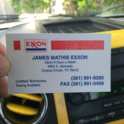 James mathis exxon 11 reviews auto repair 4802 s alameda st photo of james mathis exxon corpus christi tx united states business card colourmoves Image collections