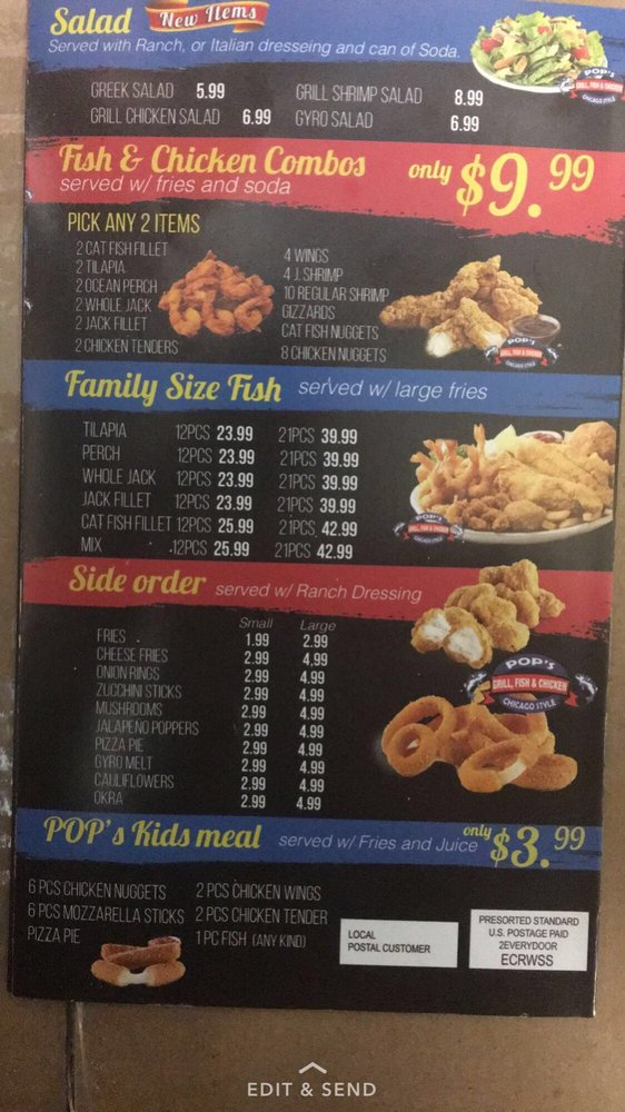 Pops Fish And Chicken: 12087 Bellefontaine Rd, St. Louis, MO