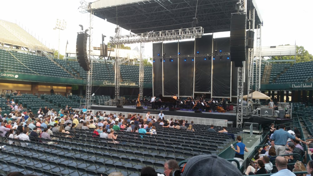 set up for concert. - yelp