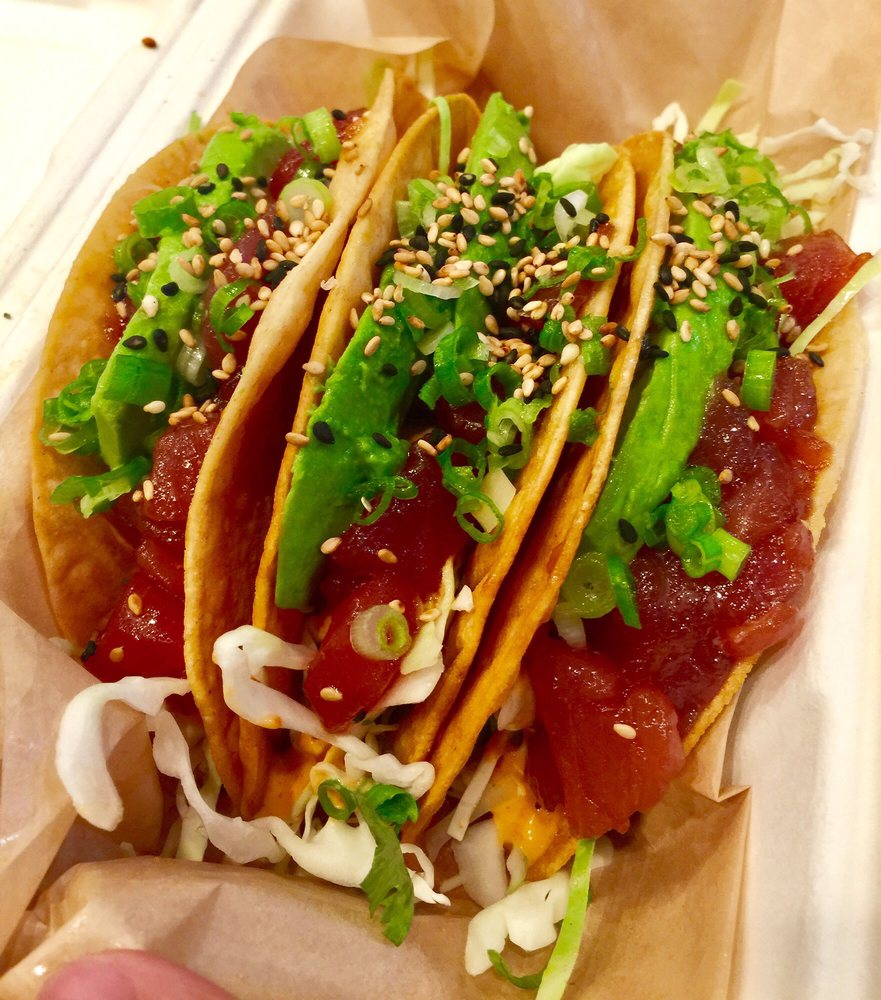 Ahi poke tacos yelp for Good fish tacos near me