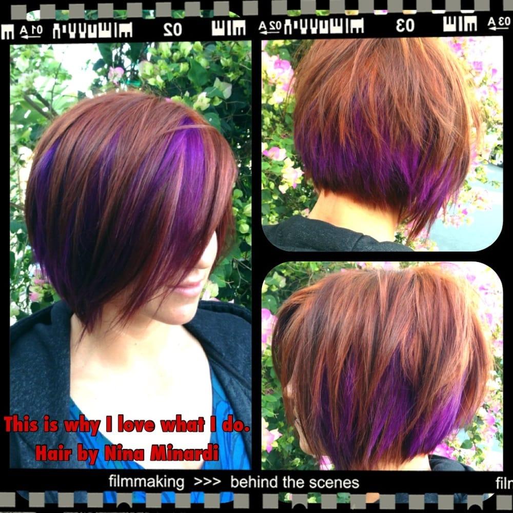 Purple Hair Colours For Short Hair