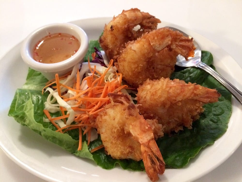 Coconut shrimp lightly fried super crispy and for Authentic thai cuisine