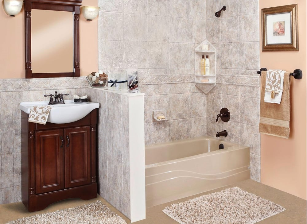 Luxury bath technologies get quote builders 1800 for Bathroom remodel yelp