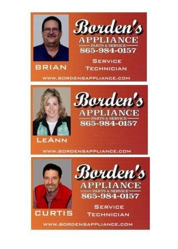 Borden's Appliance Parts And Service: 328 S Calderwood St, Alcoa, TN