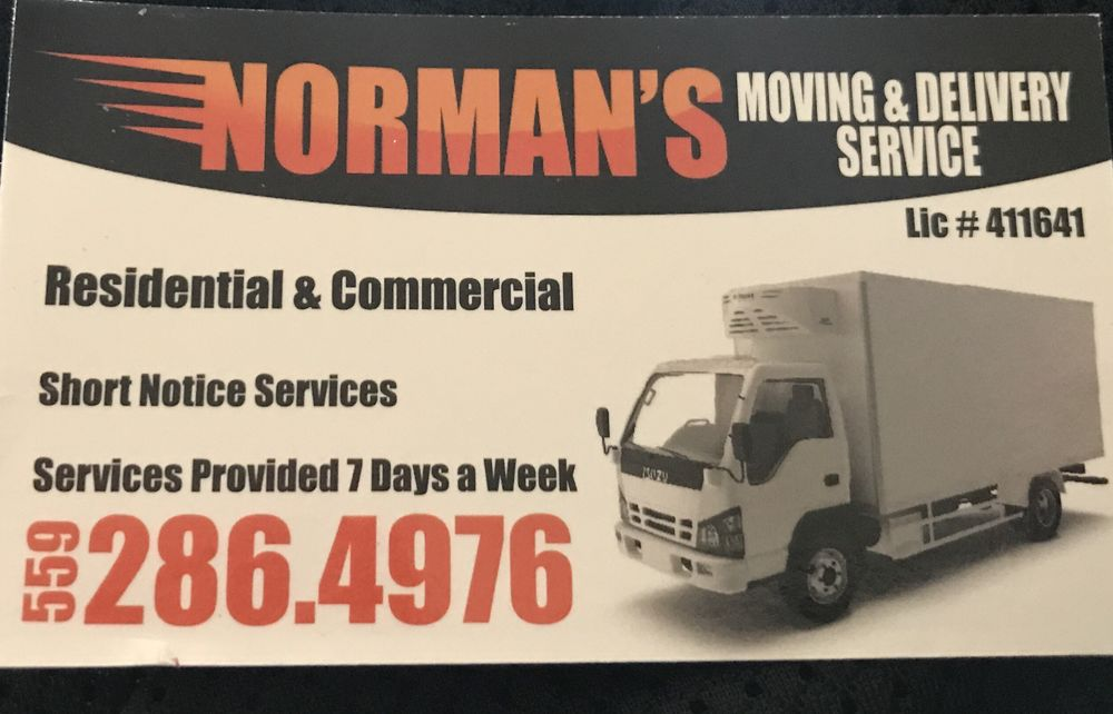 Norman's Moving & Delivery: Fresno, CA