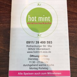 Hot Mint Vietnamese Rothenburger Str 36 Oberasbach Bayern
