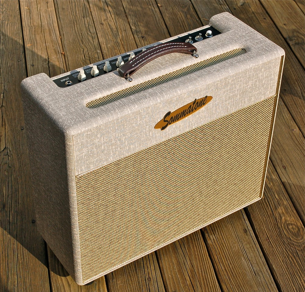 Roaring-40 Head & 2X12 Cabinet - Red Levant Tolex with Cane Grill