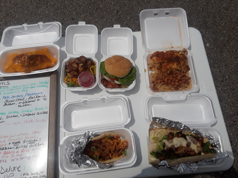 Food from The Bourbon Bayou Bistro