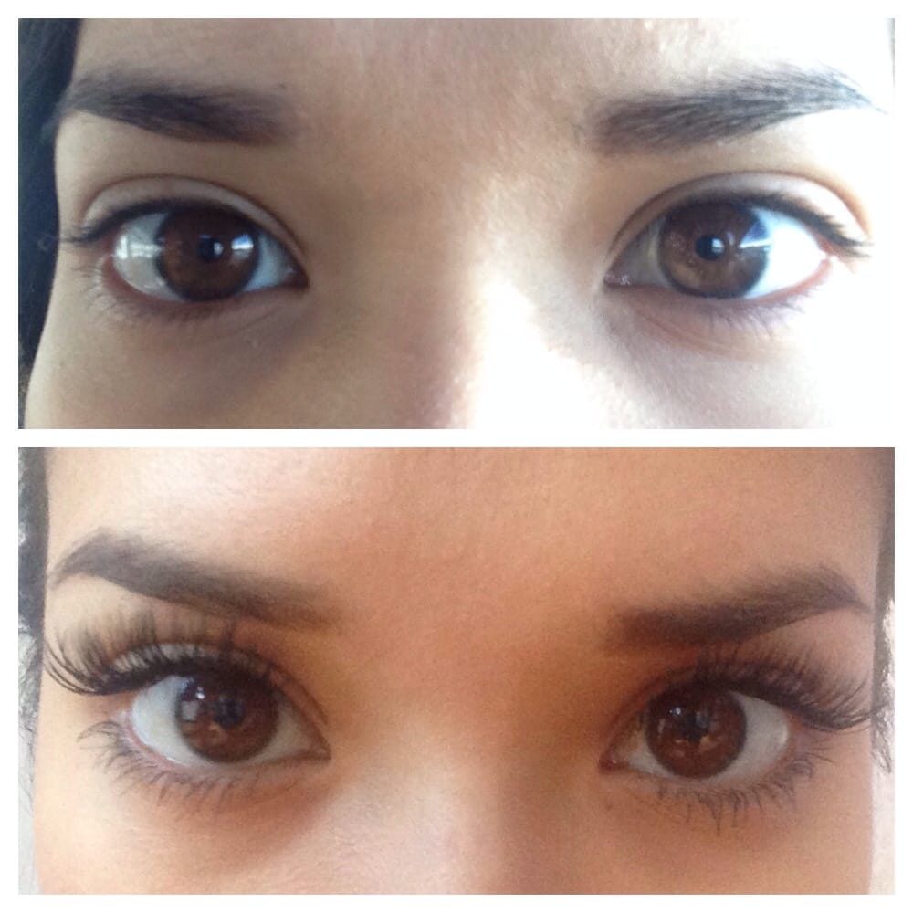 f2663a5283c Before extensions and after Minx eyelash extensions! (I put mascara ...
