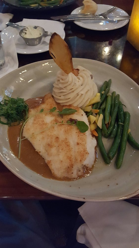 The hogfish is light and delicious yelp for Mystic fish menu