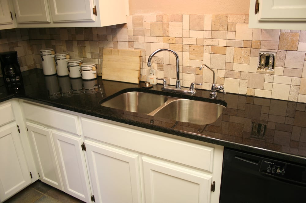 Beau Photo Of Fox Granite   Austin, TX, United States. Black Pearl Granite  Backsplash