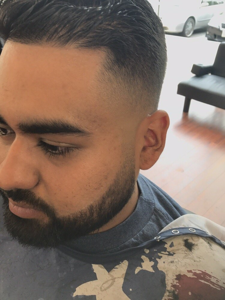 Low Bald Fade Haircut And Blend To Beard Shape Up Yelp
